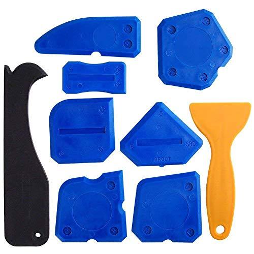 REFURBISHHOUSE 9 Teiliges Dichtmittel Werkzeug Dichtungs-Kit Silikon Entferner Dichtungs Werkzeug Bad Küche und Rahmen Dichtungsmittel Abdichtungen