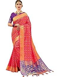 97ad54b981fcdd EthnicJunction Ethnic Vastrakala Pattu Banarasi Silk Saree With Unstitched  Animal Booti Silk Blouse Piece (EJ1175