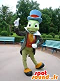 La mascota SpotSound de Pepito Grillo, Pinocho famosa insectos en