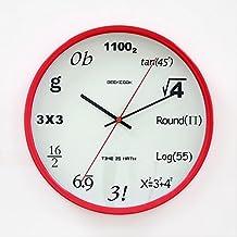 242980d38782 Amazon.es  Reloj de pared de cristal - Matemáticas