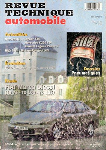 RTA REVUE TECHNIQUE AUTOMOBILE N° 606 FIAT MAREA DIESEL TD 75 / TD 100 / TD 125