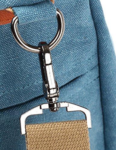 Youlee Frauen Mode Segeltuch Verstellbarer Schultergurt Schultertaschen Handtaschen Kaffee Schwarz