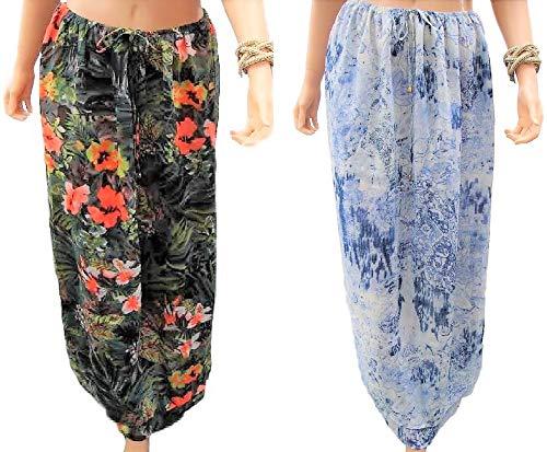 holidaysuitcase Plus Größe 18-32 UK Doppelpack tropischen Strand Rock/Kleid Bedecken - Tropical Pack, EU 46/48