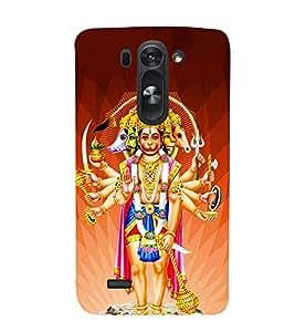 FUSON Lord Panchamukhi Hanuman Standing 3D Hard Polycarbonate Designer Back Case Cover for LG G3 S :: LG G3 S Duos :: LG G3 Beat Dual :: LG D722K :: LG G3 Vigor :: LG D722 D725 D728 D724