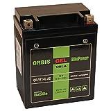 Orbis Gel12-14L-A2 Motorradbatterie - YB14L-A2 12 Volt 14 Ah 330 A