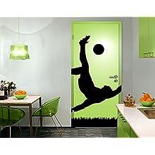 Fotomurale adhesivo para puertas Footballer In Action, Größe:S - 81x221cm;Größe:0cm x 0cm
