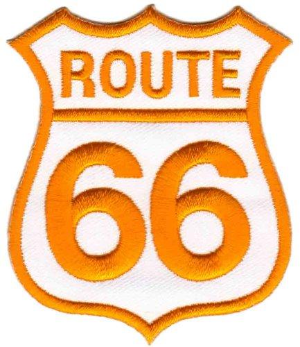 Route 66 Gelb Aufnäher Bügelbild Patch Applikation