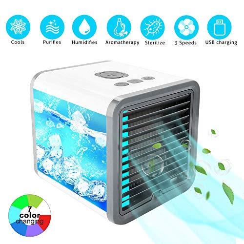 GSQAA Luftkühler Mobile Klimaanlage Klein Ventilator Turmventilator Mini USB Kleiner Kühlventilator Eiskristall Kleine Zu Hause Schlafsaal Büro Befeuchtende Portable - Kühlschlange