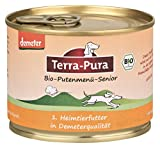 Demeter Hundefutter 100 % Bio Putenmenü Senior 24x 200 g Terra-Pura Pute