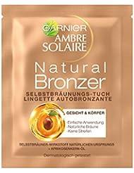 Garnier Lot de 15 lingettes autobronzantes Ambre Solaire Natural Bronzeur pour le visage
