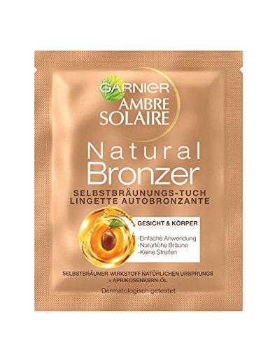 Salviettine Lotto 15 Garnier Ambre Solaire autoabbronzanti per viso Natural Bronzer
