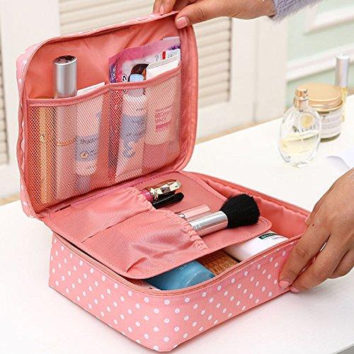 THEE Reise Kosmetiktasche Damen Aufbewahrungsbeutel wasserdichte Makeup Organiser Rosa Punkt