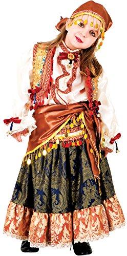 Chiber - Zingeunerinnen-Kostüm für Mädchen (7/8 Jahre)