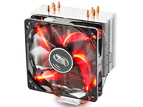 DeepCool GAMMAXX 400 Disipador de CPU con PWM Ventilador 120mm de LED Rojo y 4 Heatpipes Disipador Térmico con CTT para Intel / AMD (AM4 Compatible)