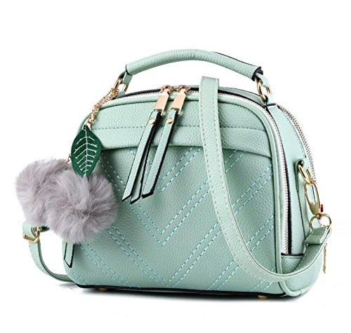 Hippolo Damen Handtasche Klein Umhängetasche Schultertaschen PU Leder Taschen Henkeltasche Shopper Grün