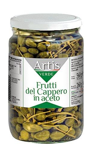 Artisfood Frutti del Cappero in Aceto - Vaso di Vetro