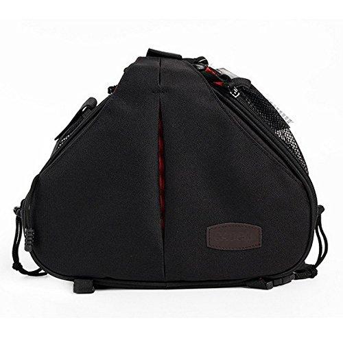 Olympus Gadget Bag (CADEN Kameratasche Kreuz Sling Bag Triangle Tragetasche für DSLR Sony Canon Rebel PowerShot, Nikon CoolPix, kodah, Olympus, Pentax)