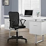 Omkar Enterprises Contemporary Ergonomic Office Chair (Polypropylene,Black,1 Piece)