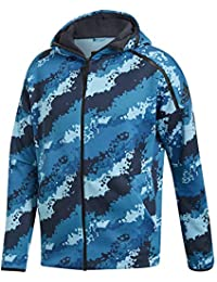 adidas Z.N.E Hoodie All-Over-Print Hooded Track Top, Hombre, Shock Cyan