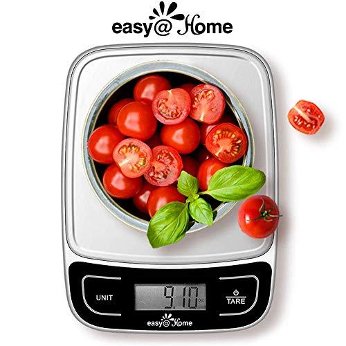 Báscula de Cocina Digital 5 kg/11 lbs, Easy@Home Escala del alimento/Escala de la cocina con una gran...