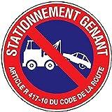 Novap 4062402 Panneau motif Défense de stationner mise en fourrière, Blanc, 604 x 400 x 75 mm
