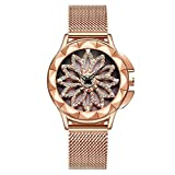 Damen Uhr, Qualitäts Luxus Wasserdichte glänzende Rhinestones Dekoration-analoge Quarz Bewegungs Armbanduhr mit justierbarem Schablonen Uhrenarmband