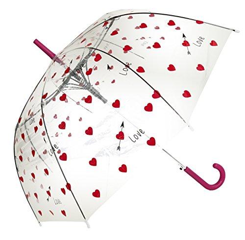 Liebes-Herz-Druck-transparenter Regenschirm