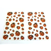 Ladybird Stickers for Kids, Children. Labels for Party Bags, Scrap Books, Decoration. Fun Stickers