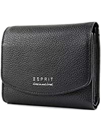 0c66c1f5739f5 ESPRIT Damen Geldbörse Portemonnaies Classic city wallet Leder Schwarz  118EA1V022