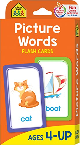 School Zone Flash Cards-Picture Words 53/Pkg