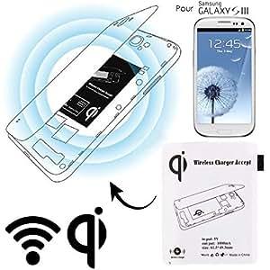 Chargeur sans fil module Qi patch récepteur Samsung Galaxy S3