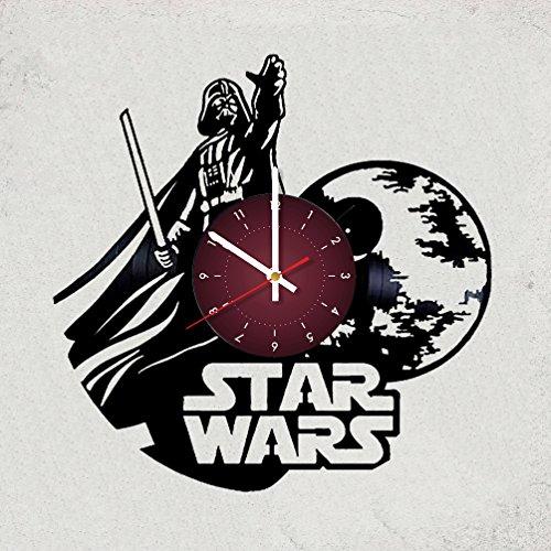 My STORE For YOU Star War Vinyl Record Design Wanduhr Decor, Beste Geschenk für Sie Oder Ihn, Freundin Oder Freund (Star Wars)
