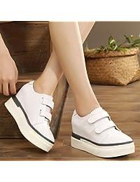 GTVERNH-L'Aumento Di Scarpe Bianche Con Tacchi Alti Tacchi 4Cm Scarpe Scarpe Casual 40 White