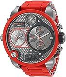 Diesel - DZ7279 - Montre Homme - Quartz Analogique - Digital - Chronomètre/ Aiguilles lumineuses - Bracelet Plastique rouge