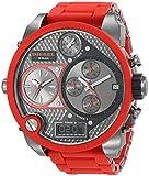 Diesel - DZ7279 - Montre Homme - Quartz Analogique - Digital - Chronomètre/Aiguilles Lumineuses - Bracelet Plastique Rouge