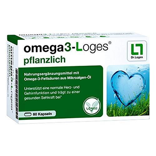 Omega3-Loges pflanzlich von Dr. Loges, 60 Kapseln (PZN 13980419) Omega-3-Fettsäuren EPA und DHA aus pflanzlichem Mikroalgenöl - Vegan, nachhaltig, schadstofffrei