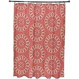 E por diseño felicidad es estampado Floral cortina de ducha, semillas