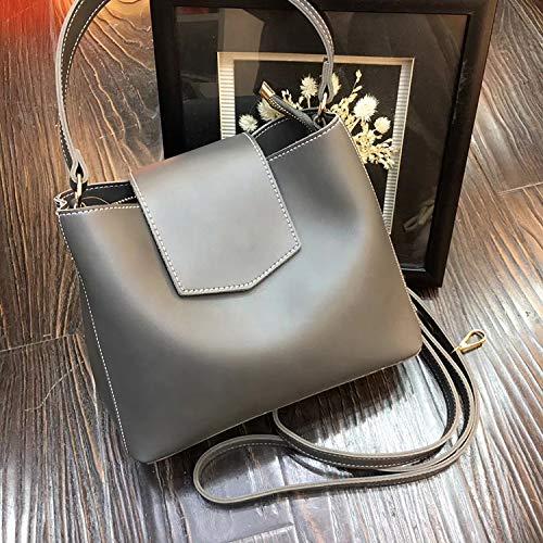 ZSBBshop Taschen Neue koreanische Version des Temperaments, Mode-Handtasche, Tasche über dem Rücken, Septum über einzelne Umhängetasche, grau
