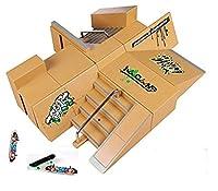 kidsdream® 8pcs kit de Skate Park Ramp partes para Tech Deck diapasón Mini Finger Skateboard monopatines Ultimate parques con 3pcs Dedo consejos de Kidsdream