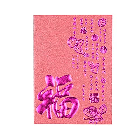 Artbeauty haute qualité Nouvel An chinois Art Paper Monnaie enveloppes bénédiction Rouge l'argent des paquets Lot de 38pcs, Purple11 CMx8 CM