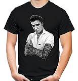 Elvis Tattoo Männer und Herren T-Shirt | Presley Rockabilly Vintage ||| (XL, Schwarz)