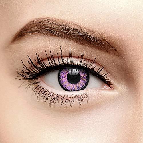 Eyefusion 3er Pack Glamour Augen 90 Tage Farbige Kontaktlinsen Ohne Stärke (Violett)