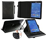 Emartbuy� iRULU eXpro X1s 10.1 Inch Tablet PC Universal (9-10 Inch) Black Premium PU Leather 360 Degree Rotating Stand Folio Wallet Case Cover + Black Stylus