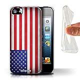 Stuff4 Coque Gel TPU de Coque pour Apple iPhone 5/5S / Amérique/americain...