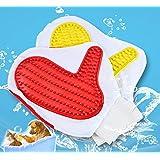 SRI Paw Pattern Pet Dog Shower Grooming Bathing Gloves, Multicolor
