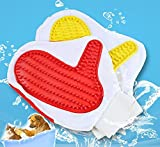 #8: SRI Paw Pattern Pet Dog Shower Grooming Bathing Gloves, Multicolor