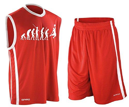 Coole-Fun-T-Shirts Basketball - Evolution ! Trikot Tank mit Hose Shirt Rot Gr.XXL