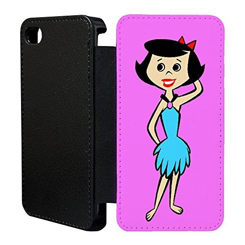 ro Vintage Flintstones Cartoon Flip Case Hülle für Apple iPhone 6 & 6S - T12 - tf846 - The Flintstones Betty ()