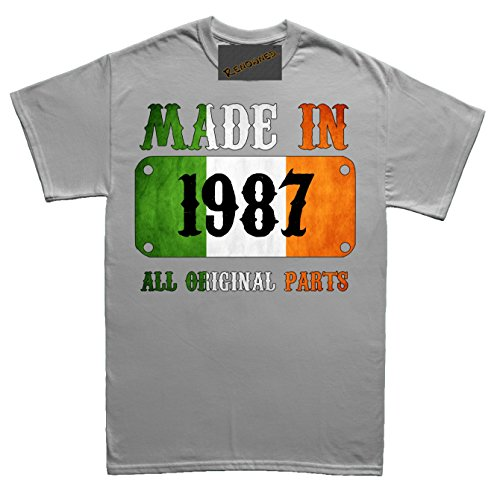 Renowned Made in Ireland in 1987 all original parts Vintage Flag Unisex  Kinder T Shirt Grau