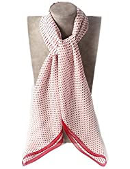 Prettystern - 85cm X85cm Polka Dots pünktchen stylisch Fashion Seidentuch aus 100% Seide Chiffon - weitere Farben